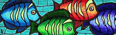 Art Print featuring the painting Tropic Swim by Jim Harris
