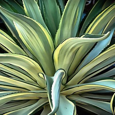 Painting - Tropical Agave by Tracey Harrington-Simpson