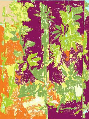 Mixed Media - Tropical Bamboo Three by Barbara Jacobs