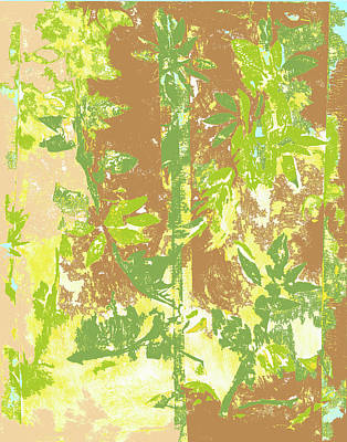 Mixed Media - Tropical Bamboo Two by Barbara Jacobs