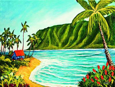 Tropical Beach #361 Art Print by Donald k Hall