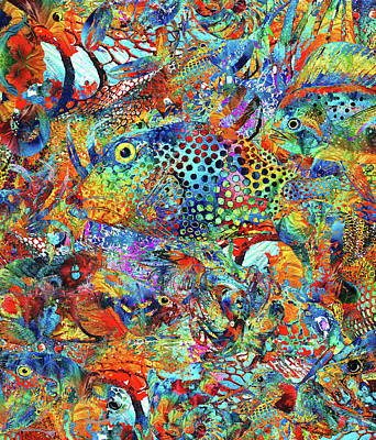 Colorful Tropical Fish Painting - Tropical Beach Art - Under The Sea - Sharon Cummings by Sharon Cummings