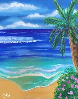Painting - Tropical Beach by Diana Riukas