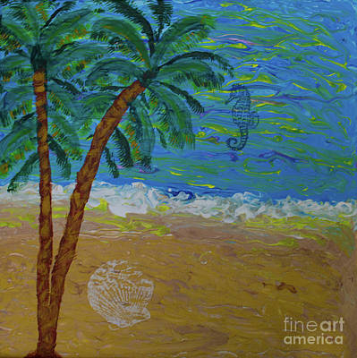 Painting - Tropical Beach by Scott Hervieux
