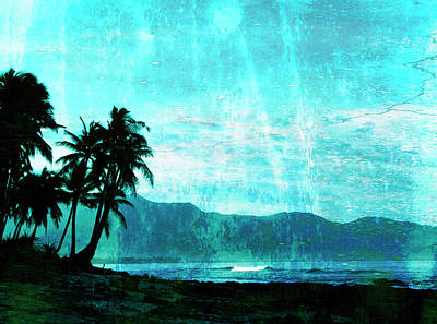 Tropical Beach Art Print by Skip Nall