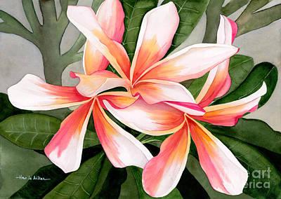 Tropical Beauty - Plumeria Watercolor Original