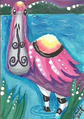Painting - Tropical Bird by Monica Resinger