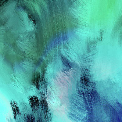 Digital Art - Tropical Blue Abstract by Jean Moore