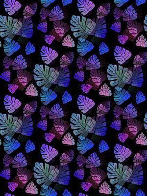 Digital Art - Tropical Blues -  Pattern by Kathleen Sartoris
