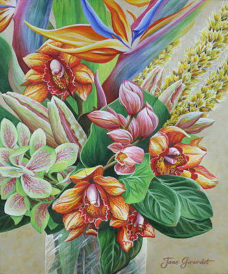 Painting - Tropical Bouquet by Jane Girardot