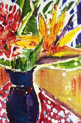 Multi Colored Painting - Tropical Bouquet by Julie Kerns Schaper - Printscapes