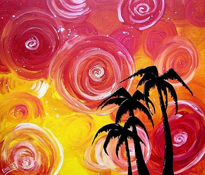 Swirls Painting - Tropical Breeze by Una  Miller
