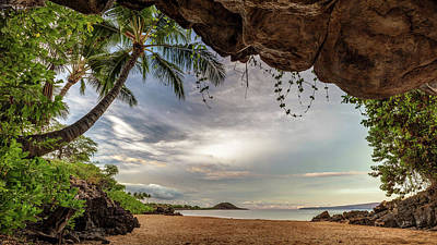 Photograph - Tropical Cave Of South Maui by Pierre Leclerc Photography