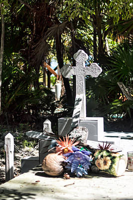Photograph - Tropical Cemetery by Lawrence Burry