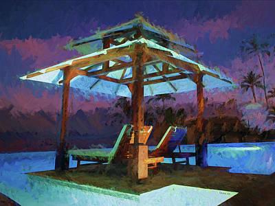 Digital Art - Tropical Coast 2 by OLena Art Brand