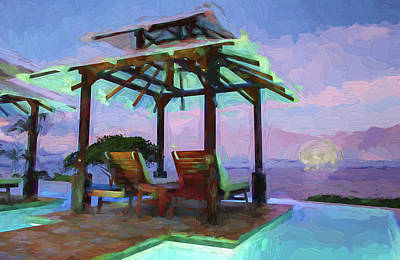 Digital Art - Tropical Coast by OLena Art Brand