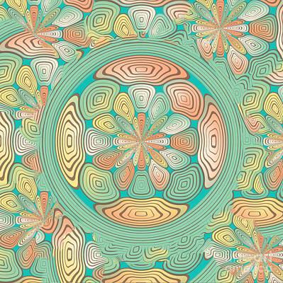 Algorithmic Digital Art - Tropical Color Abstract by Gaspar Avila
