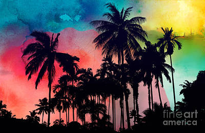 Triangle Digital Art - Tropical Colors by Mark Ashkenazi