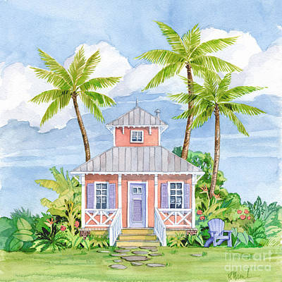 Peaches Painting - Tropical Cottage I by Paul Brent