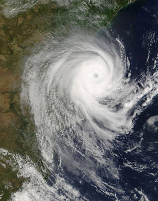 Tropical Cyclone Favio Over Mozambique Art Print by Stocktrek Images