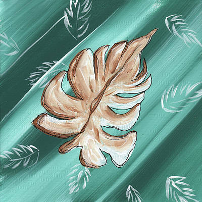Tropical Dance 1 By Madart Art Print by Megan Duncanson