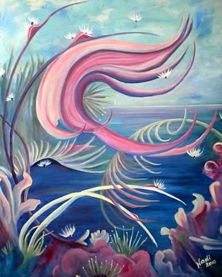 Painting - Tropical Dancer by Renate Nadi Wesley