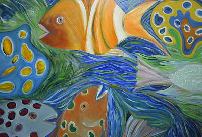 Colorful Tropical Fish Painting - Tropical Discovery by Christopher Chua