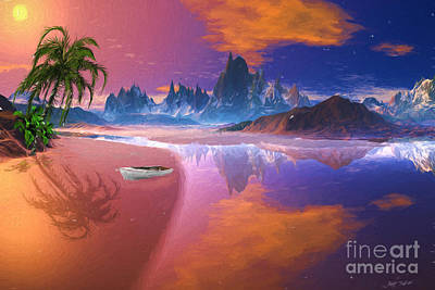 Banana Mixed Media - Tropical Dream Island Beach by Heinz G Mielke
