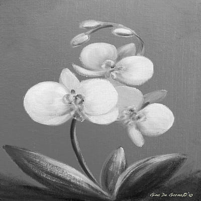 Painting - Tropical Elegance In Black And White by Gina De Gorna