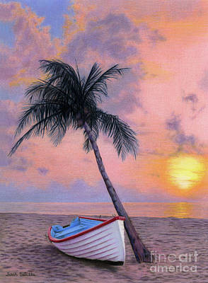 Sailboat Ocean Painting - Tropical Escape by Sarah Batalka