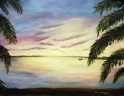 Painting - Tropical Evening by Jeanine Dahlquist