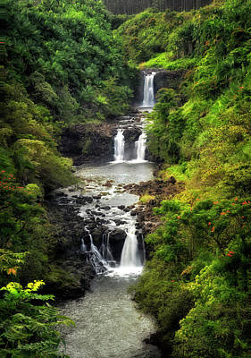 Photograph - Tropical Falls by Nicki Frates
