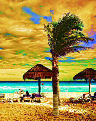 Photograph - Tropical Fantasy Beach Art  by Ann Powell