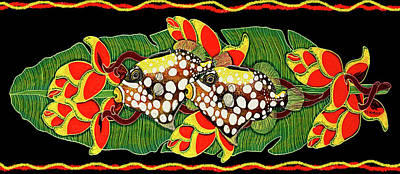 Fish Painting - Tropical Fish by Debbie Chamberlin