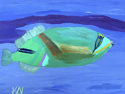 Painting - Tropical Fish by Karen Nicholson