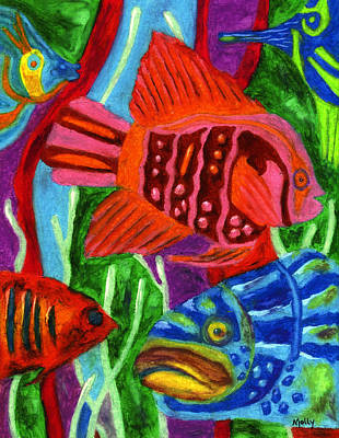 Pastel - Tropical Fish by Molly Williams