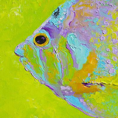 Tropical Fish Painting Art Print by Jan Matson