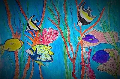 Painting - Tropical Fish Party by Anne Sands