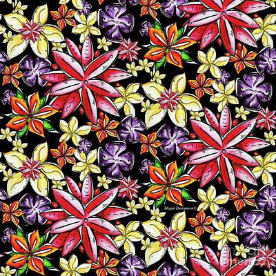 Tropical Floral Colorful Pattern Fun And Unique By Megan Duncanson Art Print