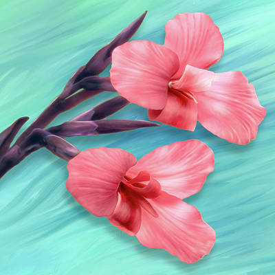 Digital Art - Tropical Flower by Bill Johnson