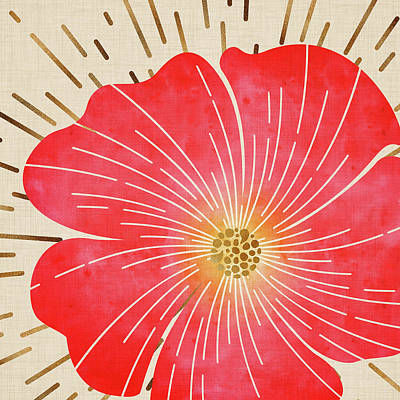 Mixed Media - Tropical Hibiscus Flower by Kristian Gallagher