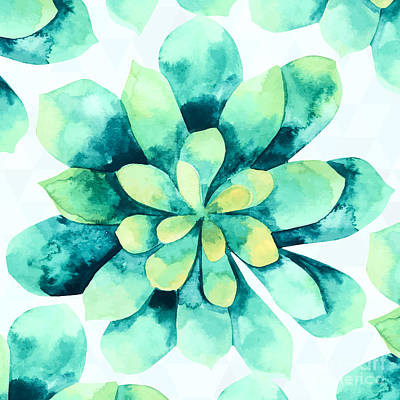 Succulent Painting - Tropical Flower  by Mark Ashkenazi