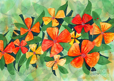 Painting - Tropical Flower Splash by Kristen Fox