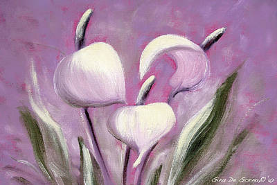 Painting - Tropical Flowers In Pink Color by Gina De Gorna