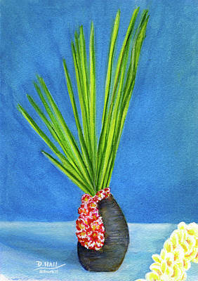 Tropical Flowers Still Life #218 Art Print by Donald k Hall