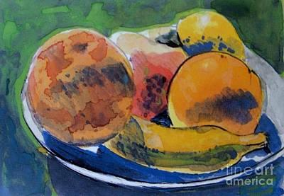 Lemon Mixed Media - Tropical  Fruit In A Bowl by Vesna Antic
