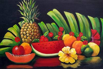 Painting - Tropical Fruit by Rosie Sherman