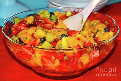 Tropical Fruit Salad By Kaye Menner Art Print by Kaye Menner