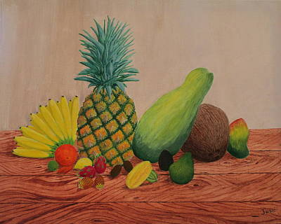 Painting - Tropical Fruits by Hilda and Jose Garrancho