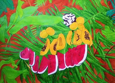Tropical Fruits Art Print by Michaela Bautz